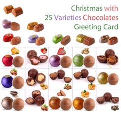 25 varieties of assorted chocolate gifts for Christmas