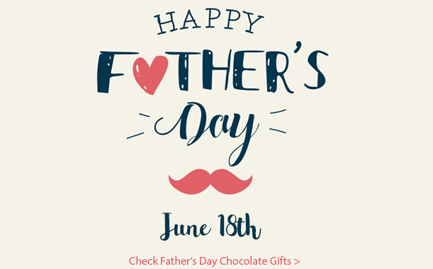 Healthy chocolate gifts on Father's day, free and fast shipping by FedEx all over India