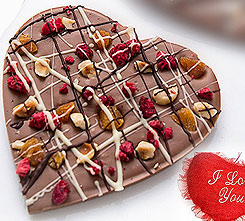 Love them valentine special chocolate heart