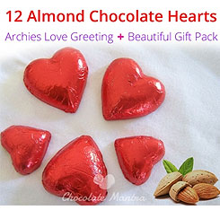 Unique Chocolate hearts, valentine chocolate gifts