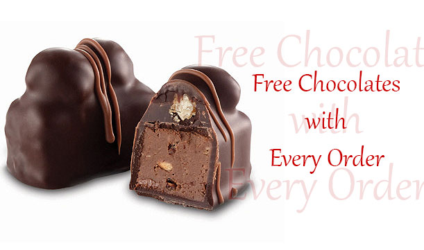 Free and extra chocolates with every order