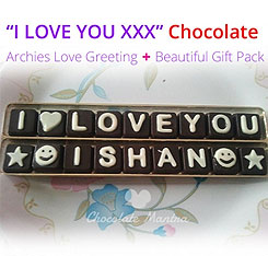 Customized valentine chocolate gifts