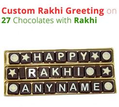 Custom Message on SMS Chocolate Rakhi special