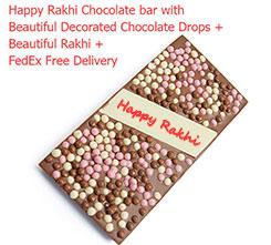 Rakhi message chocolate bar
