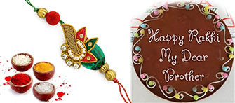 Send customized chocolate oon rakhi to your dearest brother to Mumbai, Pune, Delhi, Bangalore any city in India