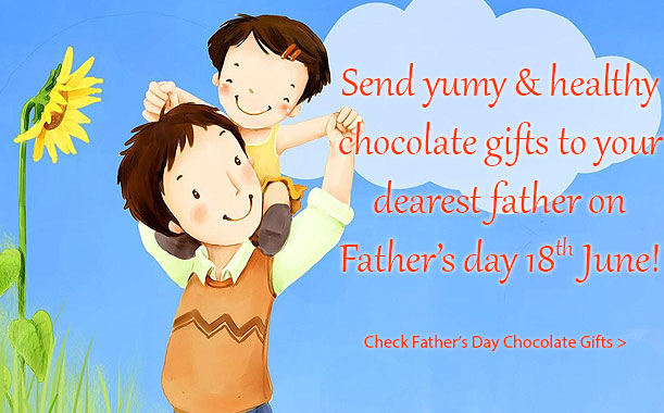 Gift healthy and yummy chocolates to your dear father on the occasion of Father's day