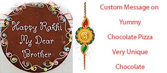 Custom message on chocolate, unique chocolate gifting idea for Rakhi