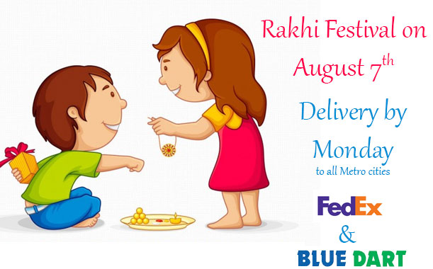 Send rakhi to your brother, all over India free deliver, Delhi, Mumbai, Bangalore