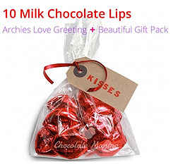 Chocolate lips valentine special chocolate gifts