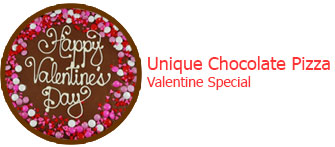 Chocolate of the week - Unique Valentine's special chocolate pizza
