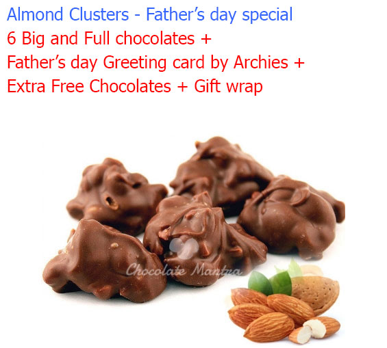 Image of Almond Chocolate Clusters - Father's day special