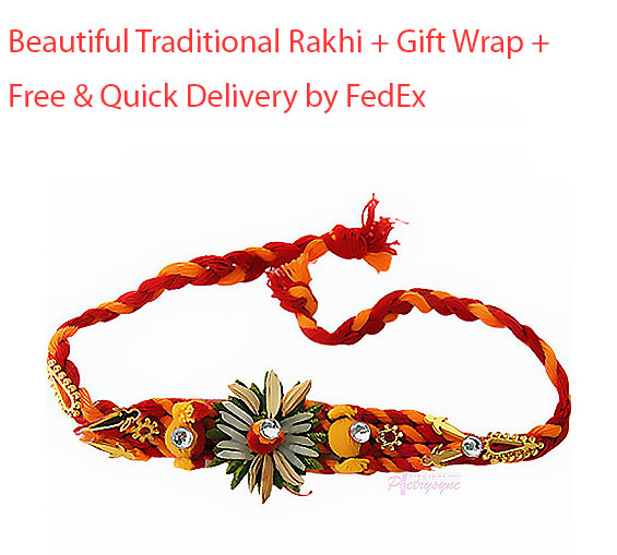 Image of White chocolate bar with Rakhi