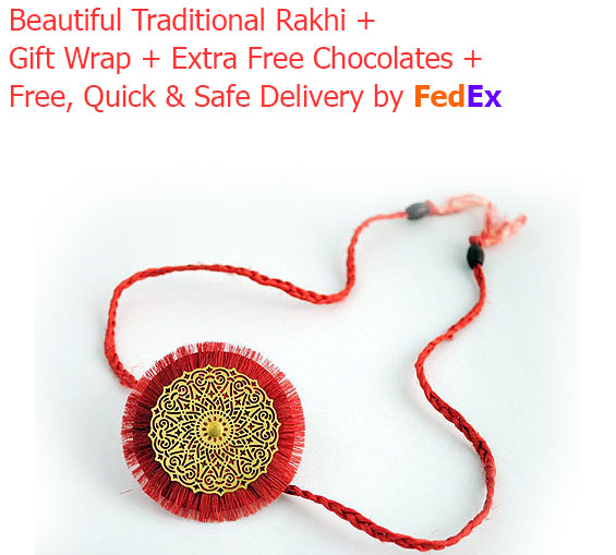 Image of Happy Rakhi Message on Decorated Chocolate Bar