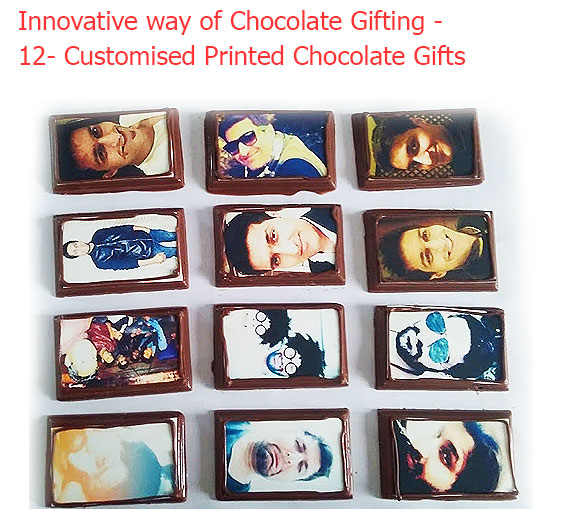 Image of Business card on 12 Chocolates