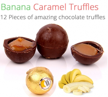 Image of Banana Caramel Truffles - 12 Chocolates