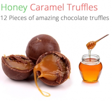 Image of Honey Caramel Truffles - 12 Chocolates