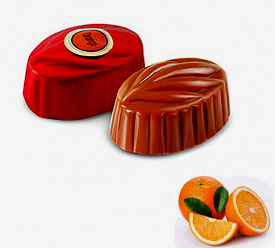 Image of Orange Pralines Dark Chocolate - Sweet Sour & Tasty