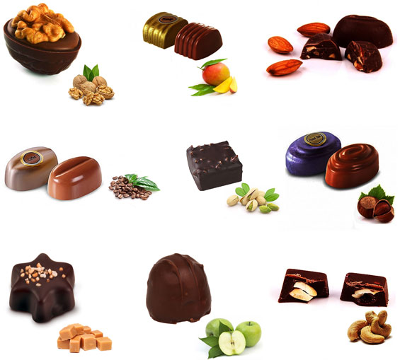 Image of Jumbo Dark Fantasy - 25 Varieties of Dark Praline Chocolates