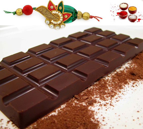 Image of Rakhi with Dark Chocolate Bar