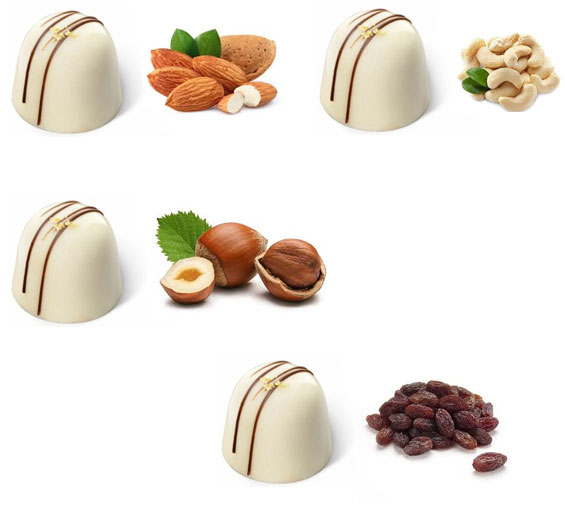 Image of White Chocolates with Dry Fruit & Nuts