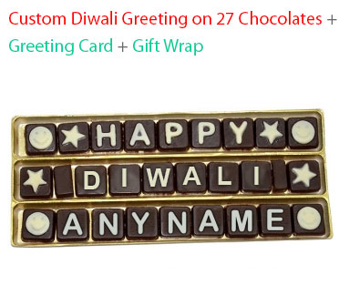 Image of Diwali Message on 27 Chocolates