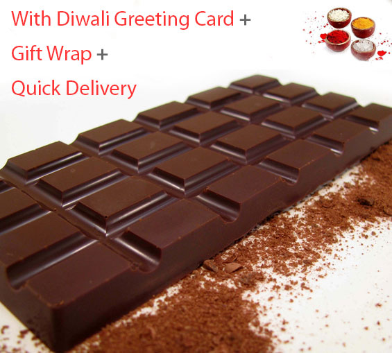 Image of Dark Chocolate Bar with Greeting Card