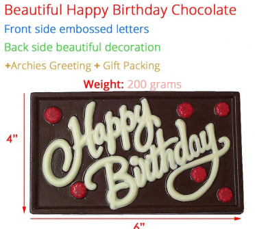 "Image of Happy Birthday Chocolate Bar 6"" x 4"""