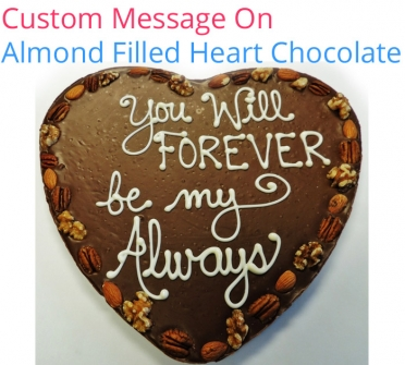 Image of Message on Chocolate Heart - Valentines Special