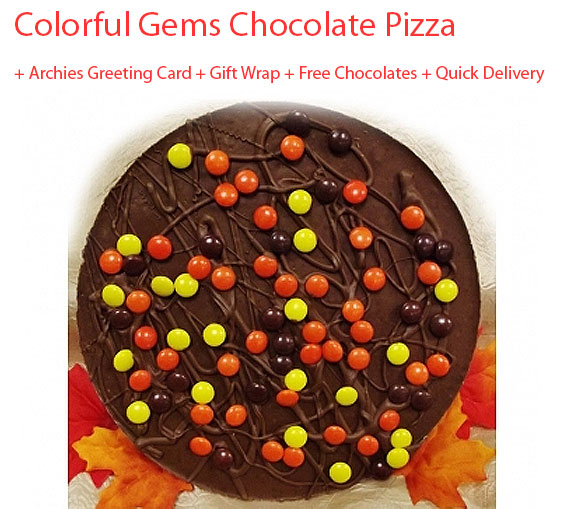 Image of Gems Chocolate Pizza - Father's day Special