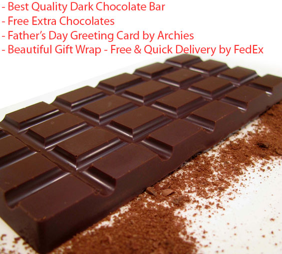 Image of Dark Chocolate Bar - Father's day Special