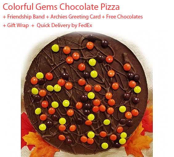 Image of Gems Chocolate Pizza - Friendship Day Spl