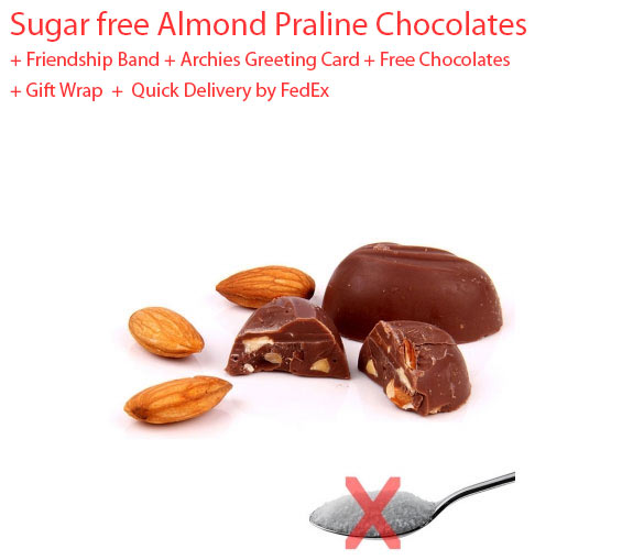 Sugar free almond chocolates on friendship day special chocolates image of sugar free almond chocolates friendship day spl negle Images