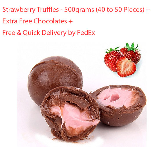 Image of Strawberry Truffles - 500 grams