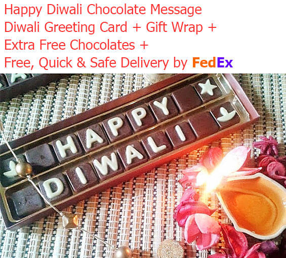 Image of Happy Diwali Chocolate Message