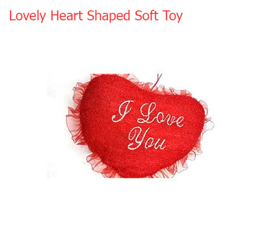 Image of Queen Size Chocolate Heart with Heart Soft Toy