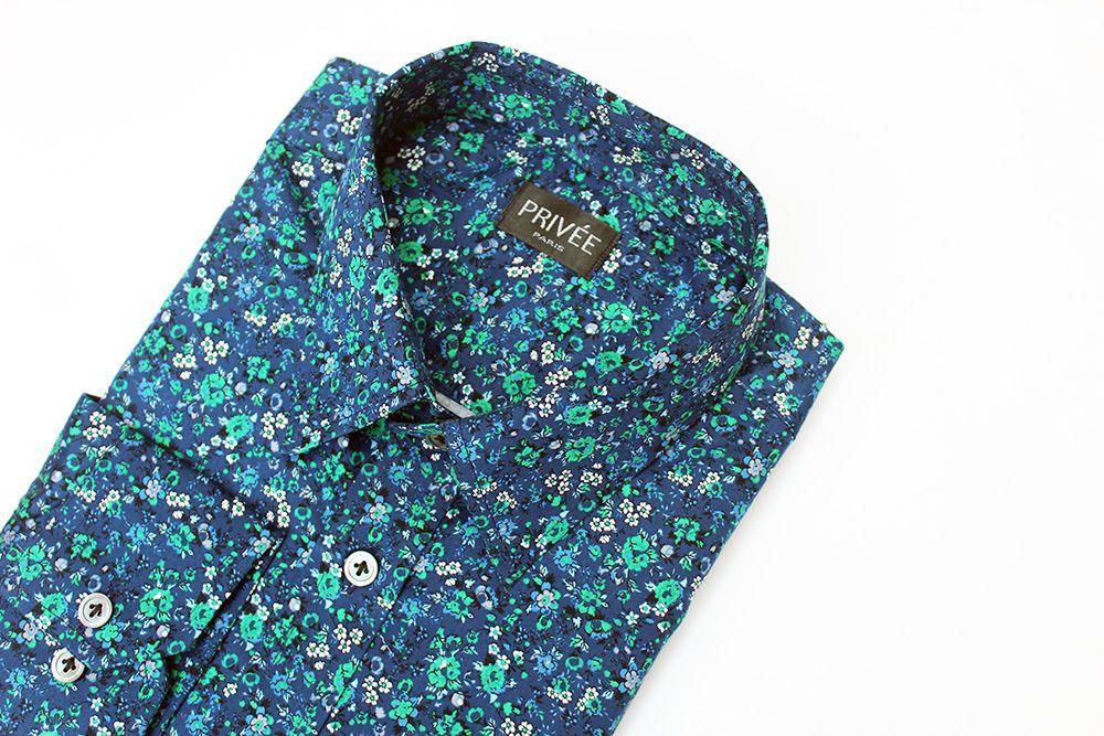 Privee Paris Floral Printed Cotton Shirt