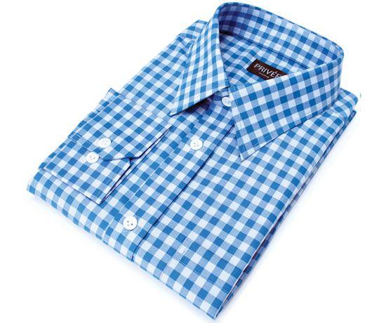Privee Paris Blue Gingham Shirt Online India