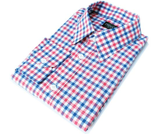 Privee Paris Red Blue Gingham Shirt India