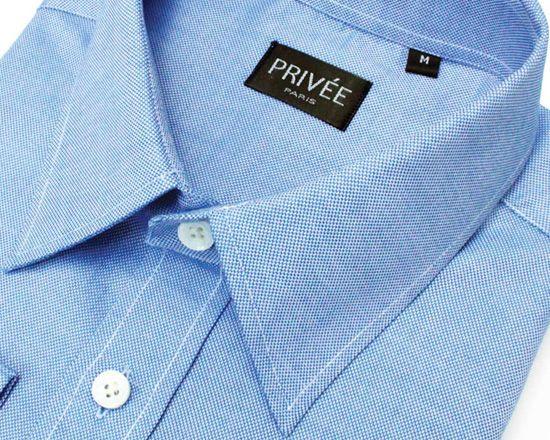 Priveeparis Royal Blue Oxford Shirt
