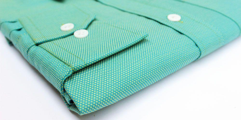 Privee Paris Green Textured Shirt