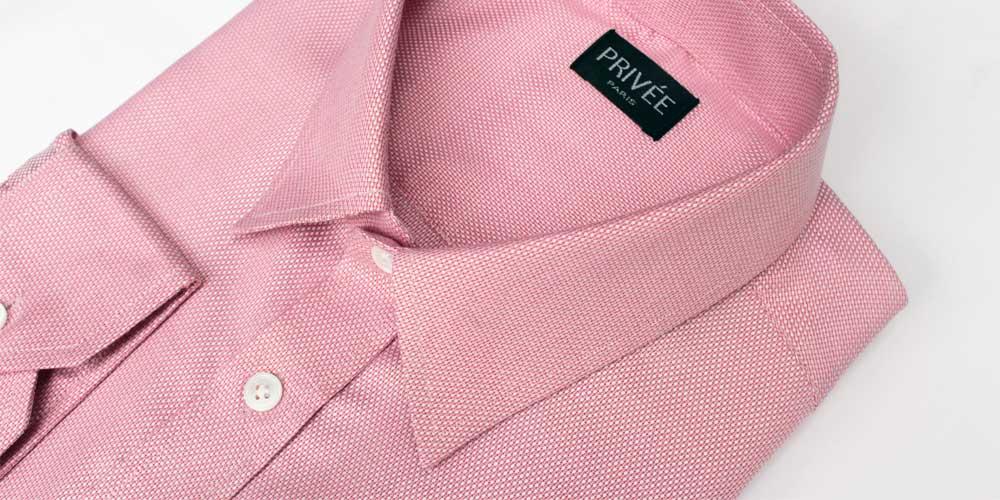 Privee Paris Pink Textured Shirt