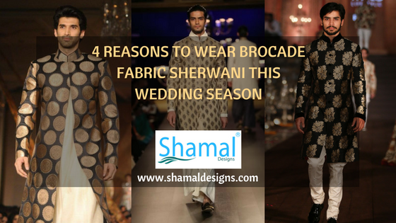 4 Reasons To Wear Brocade Fabric Sherwani This Wedding Season