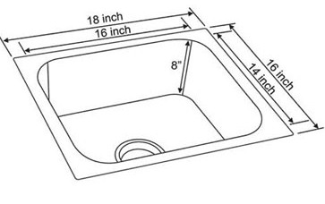 E ceramall buy neelkanth single bowl sink nk sb25 g m matt finish 18 previous next workwithnaturefo