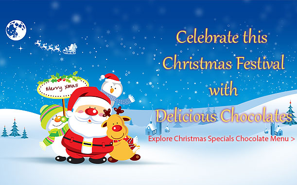 Send Christmas chocolate gifts to your friends & family