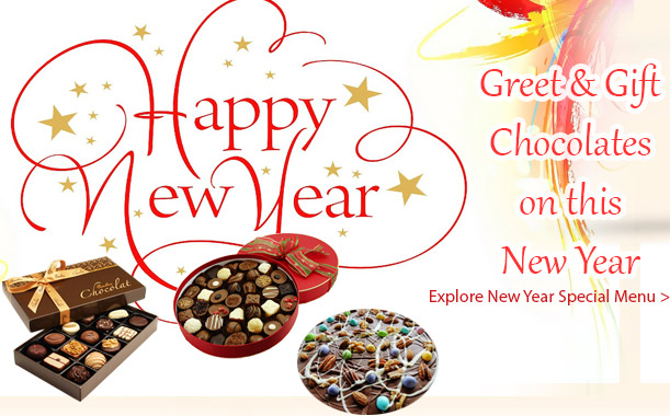 Send new year chocolate gifts to any city India