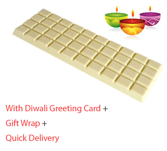 White yummy lovely chocolate gift for Diwali