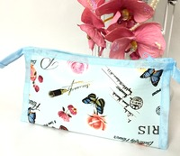 Blue rose pouch