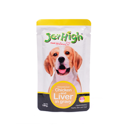 Jerhigh Chicken and Liver in Gravy, (Pack of 4) 120 g x 4