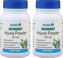 HealthVit ARJUNAVIT Arjuna Powder 250 mg 60 Capsules Pack of 2