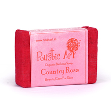 Rustic Art Organic Country Rose Soap, 100 gm